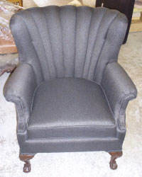After: Repaired and Reupholstered
