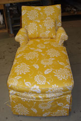 Floral Reupholstered Long Chair : reupholster chaise lounge - Sectionals, Sofas & Couches