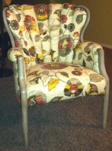 Whimsical custom upholstered chair